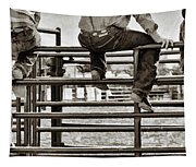 Rodeo Fence Sitters- Sepia Tapestry