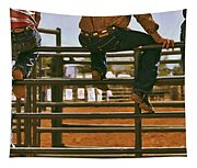 Rodeo Fence Sitters- Warm Toned Tapestry