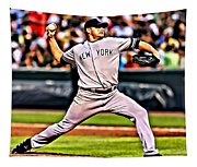 Roger Clemens Painting Tapestry