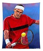 Roger Federer The Swiss Maestro Tapestry