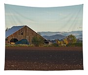 Rogue Valley Barn In Late Afternoon Tapestry