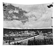 Rollinsville Colorado Small Town 181 In Black And White Tapestry
