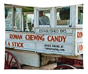 Roman Chewing Candy Wagon In New Orleans Tapestry