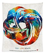 Romantic Love Art - The Love Knot - By Sharon Cummings Tapestry