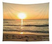 Romantic Ocean Swim At Sunrise Tapestry