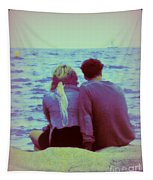 Romantic Seaside Moment Tapestry