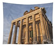 Rome Temple Of Antoninus And Faustina 01 Tapestry