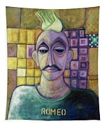 Romeo, 1970 Acrylic & Metal Leaf On Canvas Tapestry