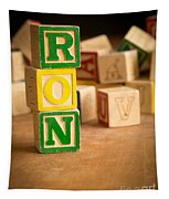 Ron - Alphabet Blocks Tapestry