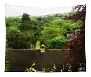 Roof Tops In Countryside Scenery With Trees - Peak District - England Tapestry