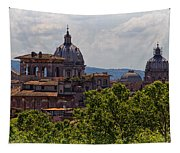 Rooftops Of Rome Tapestry