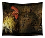 Rooster With Brush Calligraphy Loyalty Tapestry
