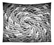 Rope Black And White Tapestry