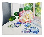 Rose And Glass Rocks Tapestry