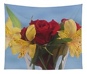 Rose And Peruvian Lilies Tapestry