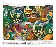 Rose Bowl Collage Tapestry