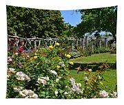 Rose Garden And Trellis Tapestry