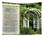 Rose Garden Prayer Tapestry
