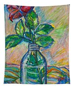 Rose In A Bottle Tapestry