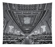 Rose Main Reading Room At The Nypl Bw Tapestry