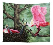 Roseate Spoonbill Nesters  Tapestry