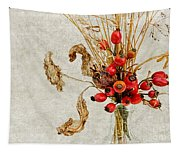 Rosehips And Grasses Tapestry