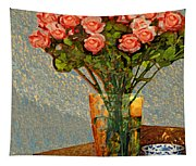 Roses And A Chinese Bowl Tapestry