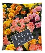 Roses At Flower Market Tapestry