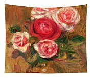 Roses In A Pot Tapestry