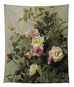 Roses On A Wall Tapestry