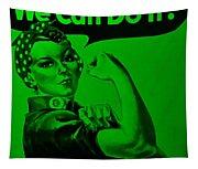 Rosie In Green Tapestry