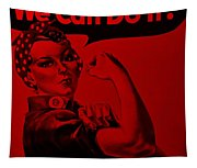 Rosie In Red Tapestry