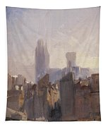 Rouen Cathedral Sunrise Tapestry