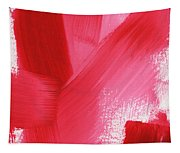 Rouge- Vertical Abstract Painting Tapestry