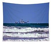 Rough Seas Shrimping Tapestry