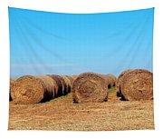 Round Bales Of Hay Tapestry