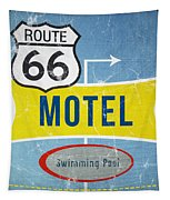 Route 66 Motel Tapestry by Linda Woods