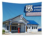 Route 66 Odell Il Gas Station Signage 01 Tapestry