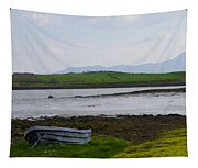 Row Boat At Low Tide - County Mayo Ireland Tapestry