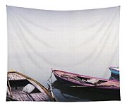 Row Boats In A River, Ganges River Tapestry