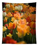 Row Of Colorful Tulips Tapestry