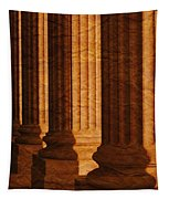 Row Of Large Columns Tapestry