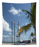 Row Of Sailboats Tapestry