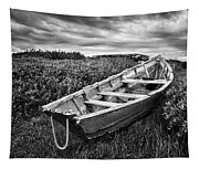 Rowboat At Prospect Point - Black And White Tapestry