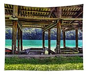 Rowboat Parking Tapestry