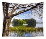 Rowboats At The Lake Tapestry