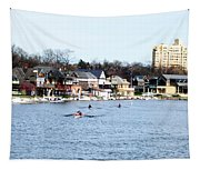 Rowing At Boathouse Row Tapestry