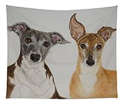 Roxie And Bruno The Greyhounds Tapestry