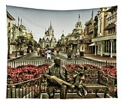 Roy And Minnie Mouse Antique Style Walt Disney World Tapestry