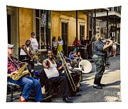 Royal Street Jazz Musicians Tapestry
